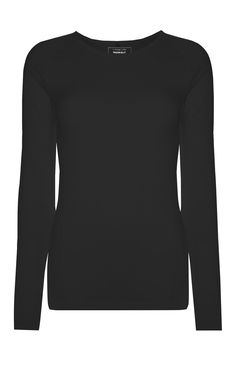 Primark - Top à manches longues sans coutures noir