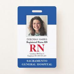 Shop Modern RN Nurse Badge created by Bolder_Design_Studio. Nurse Badge, Rn Nurse, Registered Nurse Rn, Id Badge, Licensed Practical Nurse, New York Pictures, General Hospital, Business Supplies, Medical