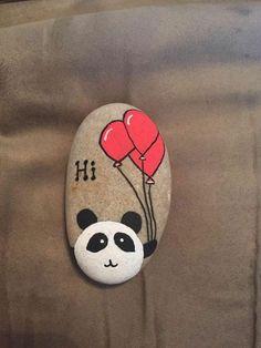 DIY Bastelideen Steine bemalen kinder panda