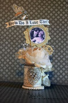 Altered spool by me. AlteredPages Artsociates: Love is in the air!