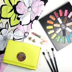 Marisa Robinson Makeup Artist Girly & Glam // Bat those lashes baby! I popped that colour like it's hot and created a look that is oh so girly and glam! #makeup #beauty #makeupflatlay #motd
