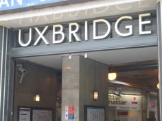 Lettering Uxbridge station