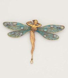 By Masriera, Spanish Art Nouveau artist. From CollectingFineJewels: Art Nouveau