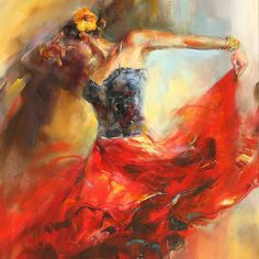 I LOVE this! Absolutely gorgeous. by Anna Razumovskaya, She Dances in Beauty 1 by Artexpo, via Flickr