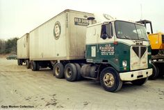 Old Dominion Freight Lines White COE pulling doubles.