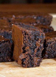 Deep, Dark Brownies.  Heaven!
