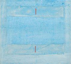 Reino Hietanen: Sommitelma, 1987, sekatekniikka ja kollaasi, 70x77 cm - Bukowskis