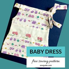 Step by step instruction to sew a very easy Baby dress ; the free size pattern for the baby dress design will suit a baby months. Sewing Patterns Free, Free Sewing, Sewing Tutorials, Baby Dress Design, Baby Girl Dress Patterns, Girls Top Design, Diy Step By Step, Baby Girl Tops, Quilt Sizes