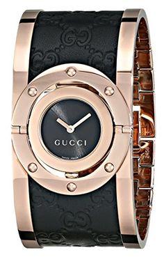 550278641e6 Amazon.com  Gucci Twirl Analog Display Swiss Quartz Black Women s  Watch(Model YA112438)  Watches