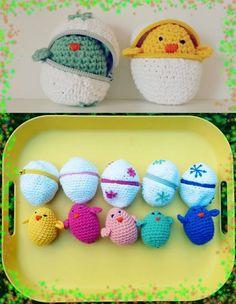 Algumas coisas são legais, outras são Super-Legais! Kinder Ovo de crochê. Curtimos muito. Infelizmente não identificamos a autoria. Foto retirada da net.
