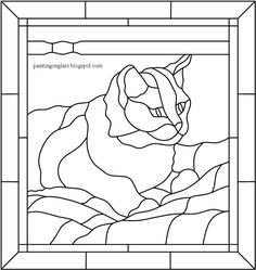 Use free cat templates for crafts, artwork or classroom projects, stained glass patterns or pumpkin carving. This cat template collection will make terrific patterns for quilting appliqués, coloring pages, clip art or wood scrollwork. Stained Glass Patterns Free, Stained Glass Quilt, Faux Stained Glass, Stained Glass Designs, Stained Glass Panels, Stained Glass Projects, Mosaic Patterns, Mosaic Art, Mosaic Glass