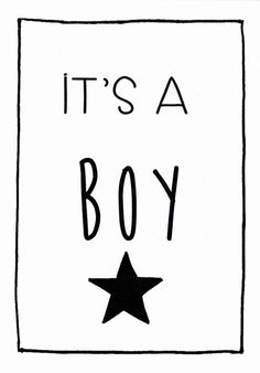 Kaart Boy, it's a boy #hoeraeenjongen #hooraythanks
