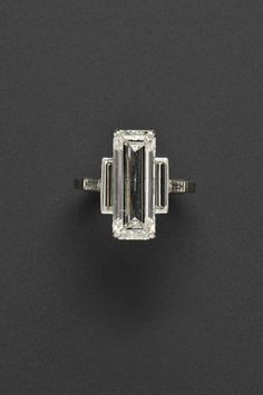 7.75-CARAT DIAMOND CARTIER RING  to be auctioned at Skinners in Boston