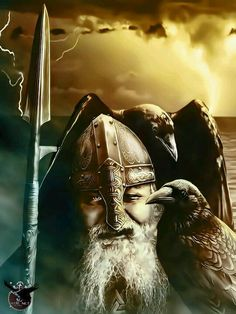 Odin Allfather  Ian Barber in the picture.  By Casper Art