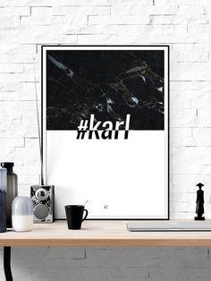 KARL - Printable Fashion Poster - Karl Lagerfeld - Wall art