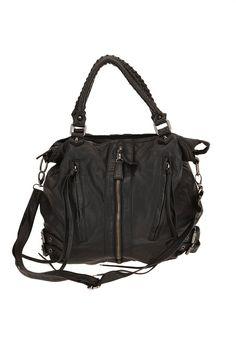 cede6a2d611f Deena  amp  Ozzy Zip-Front Moto Hobo Bag Mk Handbags
