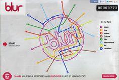 Blur's Interactive Timeline