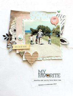 Gorgeous layering by Mardi Winen. Album Scrapbook, Scrapbook Sketches, Scrapbook Page Layouts, Baby Scrapbook, Scrapbook Paper Crafts, Crate Paper, Photo Layouts, Layout Inspiration, Origami