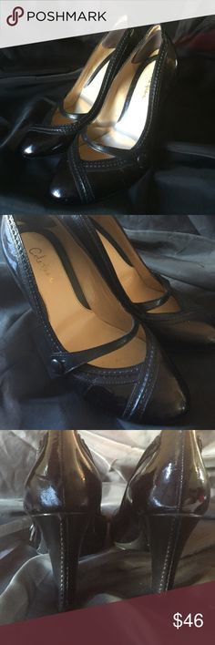 Cole Haan Black Close-toed High Heels Adorable, classy and professional and very comfy! Close toed with cute little strap with decorative button. Please see 4th picture for small damage. Cole Haan Shoes Heels