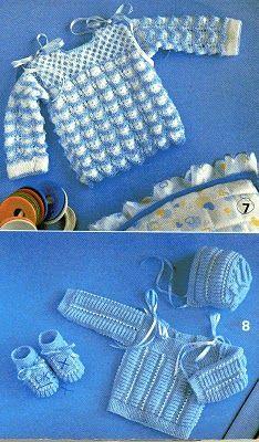 Tricotando carinho: Casaquinho, sapatinhos e touca Cristiano