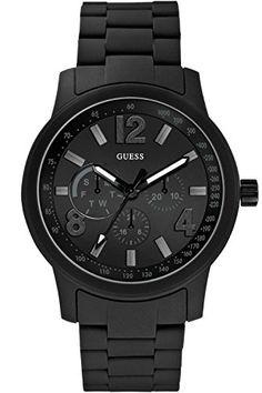 GUESS W0185G1 Men's Multifunction,Silicone/Rubber Bracelet,Quartz Movement *** Visit the image link more details.