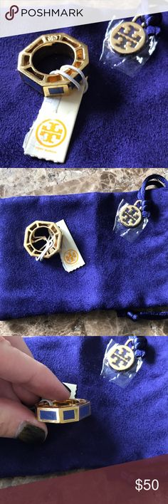 Tory Burch ring size 5 Tory burch ring. Size 5. Gold and purple. New with tags and dust bag. Tory Burch Jewelry Rings