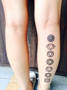 Latest tattoo! Seven Chakras! #mine