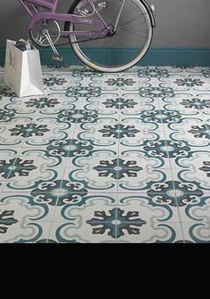 Image result for encaustic tile white blue grey moroccan