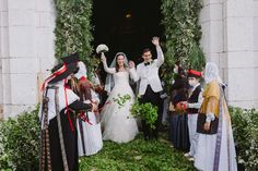 Paola Fendi & Aram Ahmed June 18, 2021 Weekend In Ibiza, Got Married, Getting Married, Welcome To The Party, Wedding Weekend, Celebrity Weddings, Gothic Fashion, Her Hair, My Girl