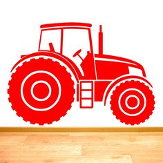 Tractor Farm Vehicle Boys Wall Sticker - Art Decal Vinyl Stickers, Easy to Apply, Free Applicator, Easy Peel - Please Choose Your Size & Colour Using Selection Boxes - by Rubybloom Designs