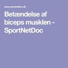 Betændelse af biceps musklen - SportNetDoc