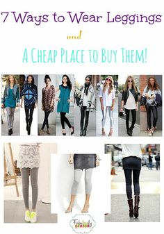 7 ways to wear leggings, plus a cheap place to buy them with free shipping!