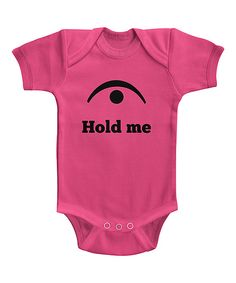 Hot Pink 'Hold Me' Bodysuit #zulily *cute