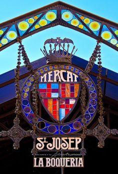Mercat de La Boqueria a la Rambla Barcelona La Boqueria Barcelona, Barcelona City, Barcelona Catalonia, Barcelona Travel, Begur Costa Brava, Hotel W, Modernisme, Antoni Gaudi, Voyage Europe