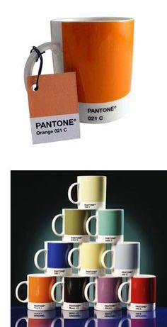 Pantone colour numbered cups