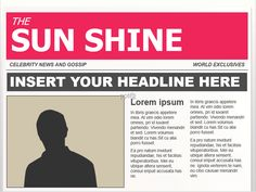 Editable powerpoint newspapers powerpoint template newspaper ppt toneelgroepblik Choice Image