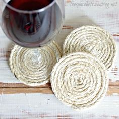 Use twine, robe or sisal and a glue gun to start and finish wrapping into spirals. They are so basic yet stylish.