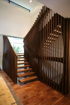 Inset / cut handrails ///  Stylish private residence by Belzberg Architects