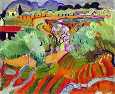 Paysage de Provence, Raoul Dufy was a French Fauvist painter. He developed a colorful, decorative style that became fashionable for designs of ceramics and textiles. Raoul Dufy, Garden Painting, Painting & Drawing, Landscape Art, Landscape Paintings, Art Fauvisme, Georges Braque, Art Moderne, Andre Derain