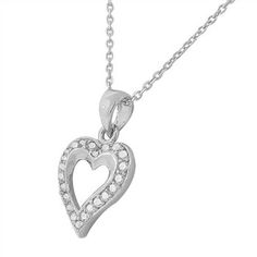 #HeartPendants are always sophisticated, sweet and in style. (MyDailyStyles.com)