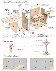 #1705 Mobile Miter Saw Stand Plans - Miter Saw