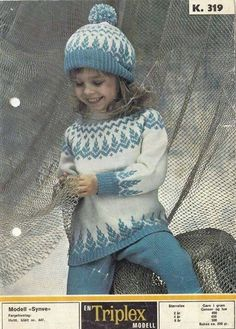 Ravelry: Synve pattern by Sandnes Design Baby Sweater Patterns, Fair Isle Knitting Patterns, Knitting Designs, Knit Patterns, Crochet Toddler, Crochet Baby, Knit Crochet, Toddler Sweater, Knit Baby Sweaters