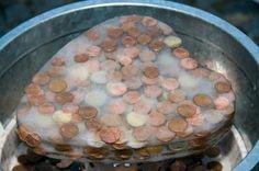 Hochzeitsgeschenk Taki Geldgeschenk Münzen in Eisblock