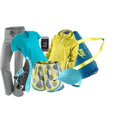 Nike Workout, created by malloryanne1029.polyvore.com
