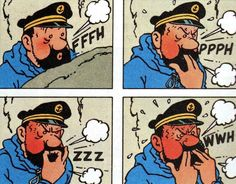 Captain Haddock / Tintin in Tibet Haddock Tintin, Captain Haddock, Old School Ink, Herge Tintin, Lucky Luke, Ligne Claire, Comics Story, Chef D Oeuvre, Comic Page