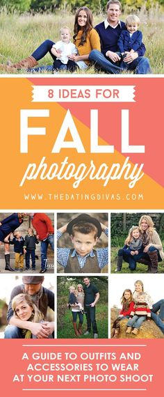 to Wear for Photos Fall photography ideas to help decide what to wear! Fall photography ideas to help decide what to wear! Family Pictures What To Wear, Fall Family Pictures, Fall Photos, Family Pics, Winter Pictures, Fall Mini Sessions, Family Photo Sessions, Family Posing, Family Portraits