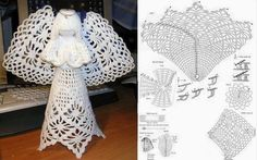 Crochet Pattern For A Thread Holiday Crochet Patterns, Vintage Crochet Patterns, Lace Doilies, Crochet Doilies, Crochet Hats, Tatting Tutorial, Crochet Christmas Decorations, Crochet Angels, Crochet Snowflakes