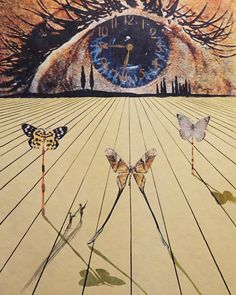 Memories of Surrealism the Eye of Surrealiste Time  1971 (Early) Limited Edition Print Etching by Salvador Dali