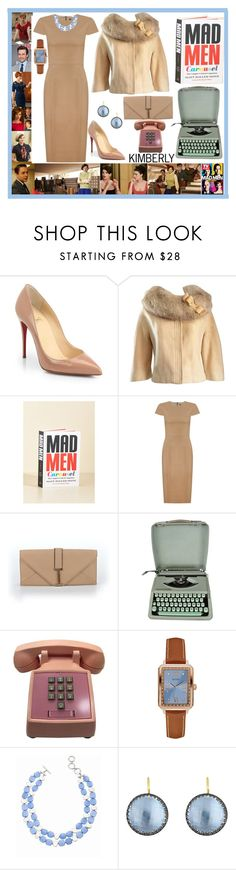 """Mad Men"" by kimmie-plus2 on Polyvore featuring Christian Louboutin, Lilli Ann, Janie Bryant, Andrea Marques, Isaac Mizrahi, Hermès, GUESS, Talbots and Larkspur & Hawk"