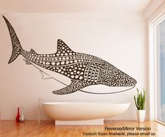 Vinyl Wall Decal Sticker Whale Shark #OS_ES109 | Stickerbrand wall art decals, wall graphics and wall murals.